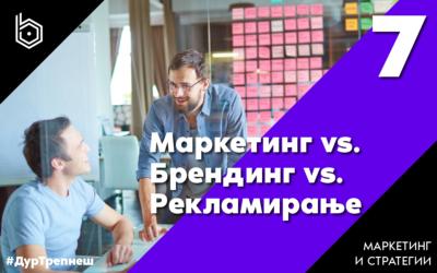 Маркетинг vs Брендинг vs. Рекламирање